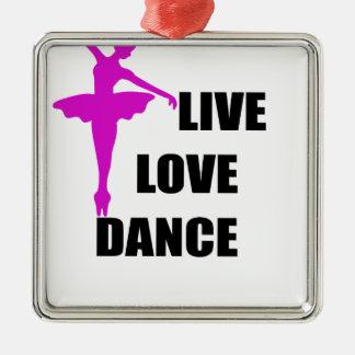 Tanz-Liebe Live Silbernes Ornament