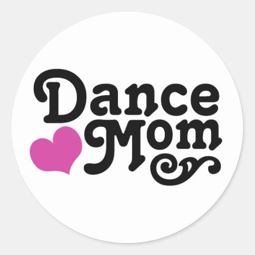 Tanz-Mamma Runder Sticker