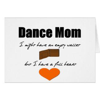 Tanz-Mamma - leere Herzen, volle Geldbörse Grußkarte