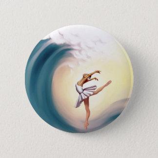 Tanz mit Wellen Runder Button 5,1 Cm