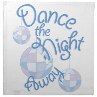 Tanz-Nacht weg Serviette