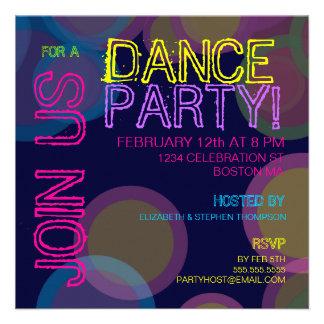 Tanz-Party Einladung