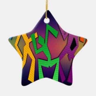 Tanz-Party Keramik Stern-Ornament