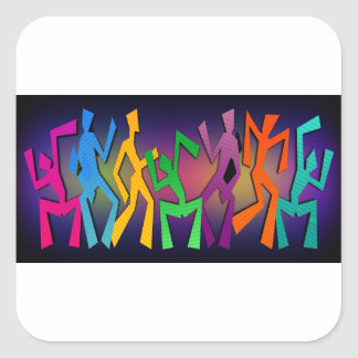 Tanz-Party Quadratischer Aufkleber