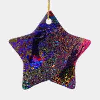 Tanz, Partygetränke in den vollen Farben Keramik Stern-Ornament