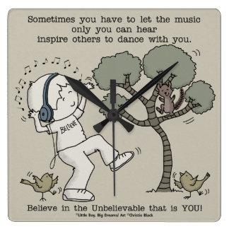 Tanz Quadratische Wanduhr