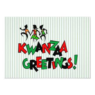 Tanz-Schlag-Kwanzaa-Feiertags-Party Einladungen