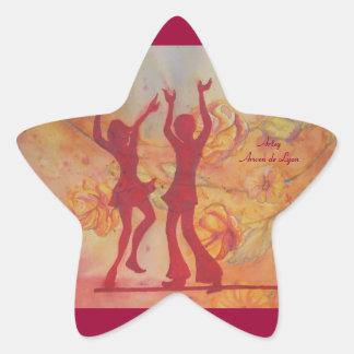 Tanz Stern-Aufkleber