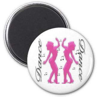 Tanz-Tanz-Mädchen Runder Magnet 5,7 Cm