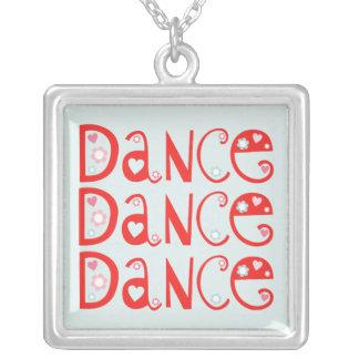 Tanz-Tanz-Tanz-Blau-Halskette Versilberte Kette
