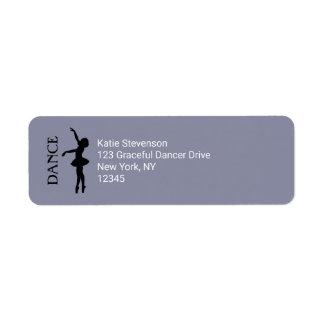 Tanz-Typografie mit Ballerina-Silhouette Rücksende Aufkleber
