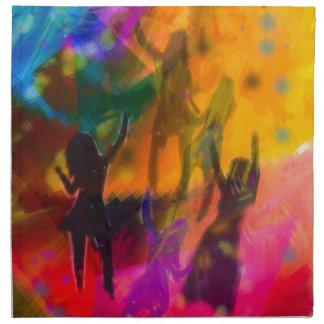 Tanz und Party Stoffserviette