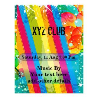 Tanz-Verein-Musik-Party-Flyer 21,6 X 27,9 Cm Flyer