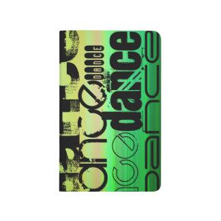 Tanz; Vibrierendes Grünes, orange u. Gelb Taschennotizbuch