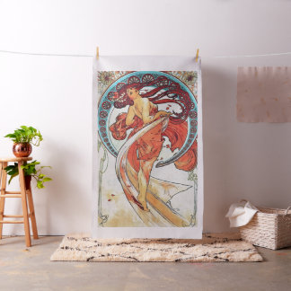 Tanz-Vintage Kunst Nouveau Malerei Alphonse Mucha Stoff