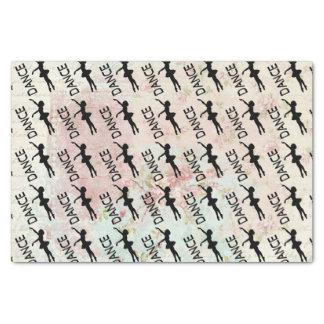 Tanz - Vintages Ballerina-Silhouette-Muster Seidenpapier