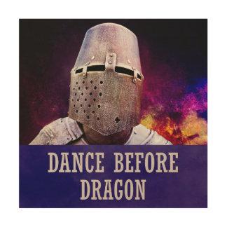 Tanz vor Drachen Holzwanddeko