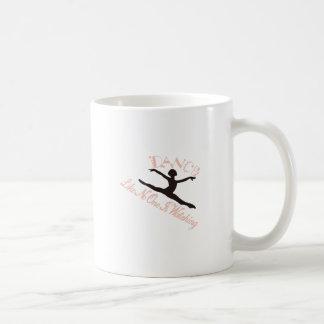 Tanz wie niemand passt auf kaffeetasse