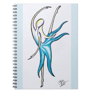 Tanz wie niemand passt gewundenes Notizbuch auf Notizblock