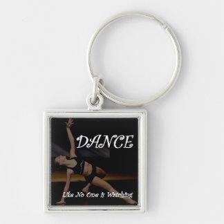 Tanz wie niemand passt Keychain auf Schlüsselanhänger