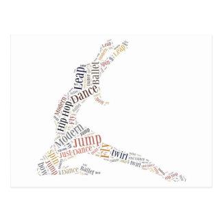 Tanz-Wort-Wolke Postkarten