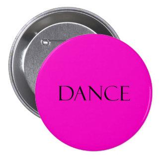 Tanz zitiert Pink-inspirierend Tanzen-Zitat Runder Button 7,6 Cm
