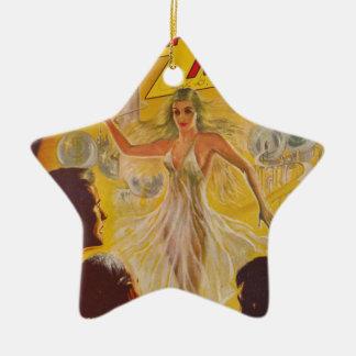 Tänze mit Blasen Keramik Stern-Ornament