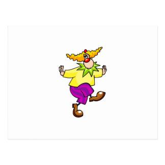 Tänzelnder Clown Postkarte