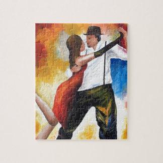 Tanzen am Dämmerungs-Tango-Liebhaber-bunten Traum! Puzzle