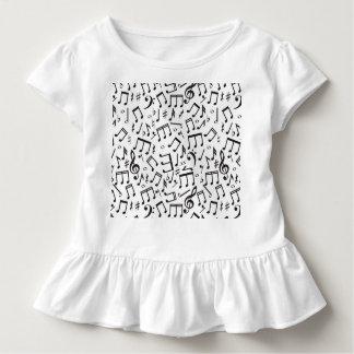 Tanzen-Anmerkungen in Schwarzem u. im Weiß Kleinkind T-shirt