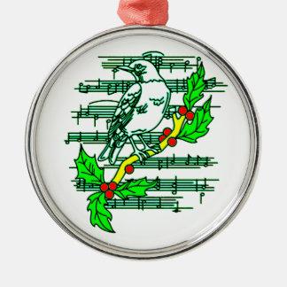 Tanzen-Anmerkungen Silbernes Ornament
