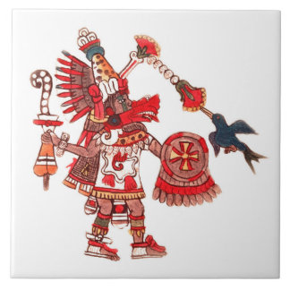 Tanzen aztekischer Shaman-Krieger Keramikfliese