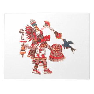 Tanzen aztekischer Shaman-Krieger Notizblock