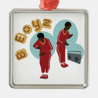 Tanzen B Boyz Silbernes Ornament