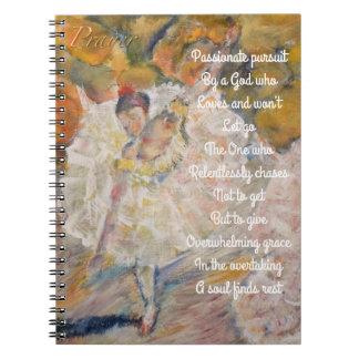 Tanzen-Ballerinagebetszeitschrift Spiral Notizblock