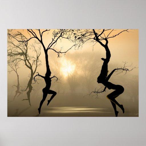 Tanzen-Bäume Posterdrucke