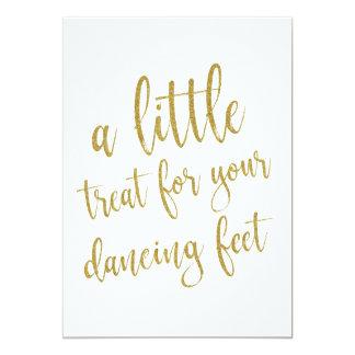 Tanzen beschuht GoldGlitter-erschwingliches Karte