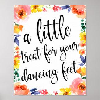 Tanzen beschuht Schuh-Wedding Blumenzeichen 8x10 Poster