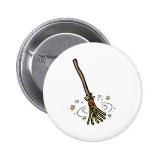 Tanzen-Besen Runder Button 5,1 Cm