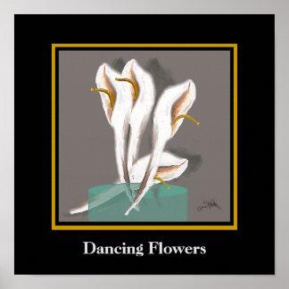 Tanzen-Blumen abstrakt Poster