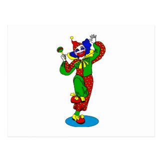 Tanzen-Clown mit Babygeklapper Postkarte