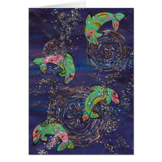 Tanzen-Delphine durch Kewzoo Karte