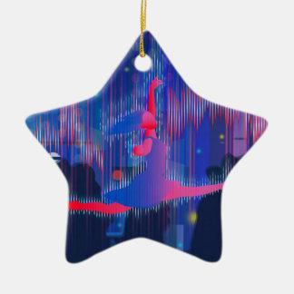 Tanzen durch neues Jahr Keramik Ornament
