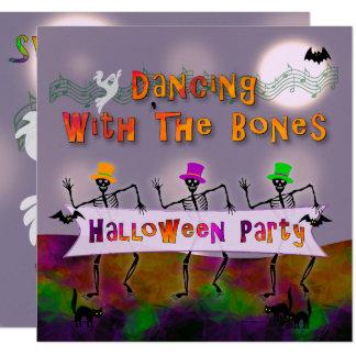 Tanzen entbeint Halloween-Party-Einladung Karte