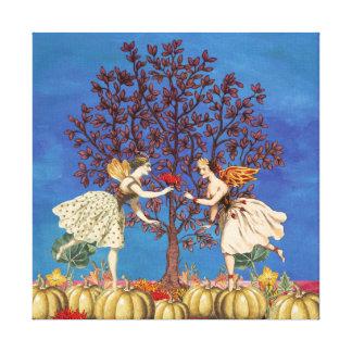 Tanzen-feenhafte Freund-Kürbis-Flecken-Blume Leinwanddruck