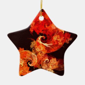 Tanzen Firebirds abstrakte Kunst-Stern-Verzierung Keramik Stern-Ornament
