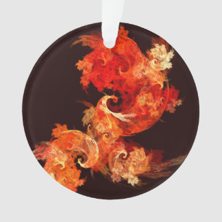 Tanzen Firebirds abstrakter Kunst-Acryl-Kreis Ornament