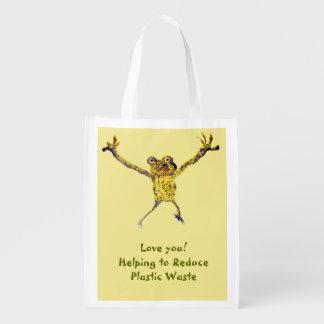 Tanzen-Frosch-Kunst Wiederverwendbare Einkaufstasche