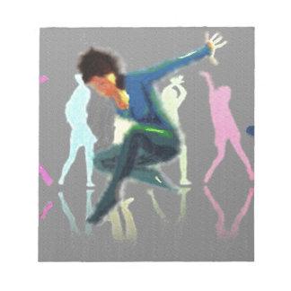 Tanzen für Freude-Kunst Notizblock