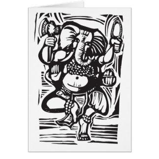 Tanzen Ganesha Hintergrund Karte